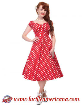 Robe Dolores Dots Red