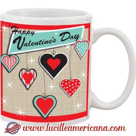 Mug St Valentin Retro Hearts