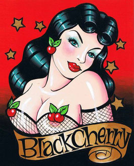Mug Black Cherry Pin Up