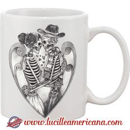 Mug St Valentin Skull Love