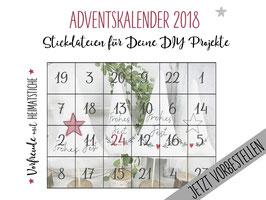Heimatstiche Adventskalender - Stickdateien ab 10x10