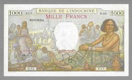 Nouvelle-Calédonie BIC 1000 francs (1938)