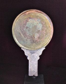 Miroir khmer avec son manche