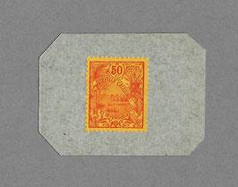 Timbre-monnaie sur carton de 50 centimes