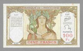 Billet Tahiti BIC 100 francs Minost/de Flers (1956)