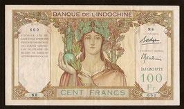 Billet de 100 francs de la Banque de l'Indochine de Djibouti (1931)