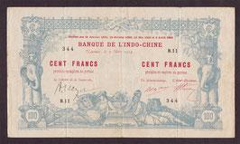 Nouvelle-Calédonie - Billet de la BIC : 100 francs 1914