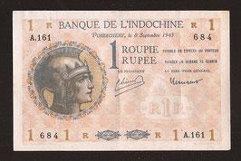 Comptoirs Français de l'Inde 1 roupie P 4 - KM 308f