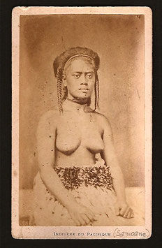 "CDV : Allan Hughan, Nouméa (1834-1883) : ""Indigène du Pacifique "" (c. 1875)"