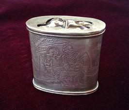 Grande boîte à opium en baitong, à deux compartiments