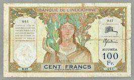 Nouvelles-Hébrides BIC 100 francs - Thion de la Chaume/Baudouin (1941) KM 703A