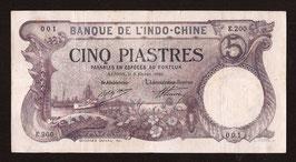 Indochine BIC billet de 5 piastres pour Saigon (1920) P38 - KM 130b