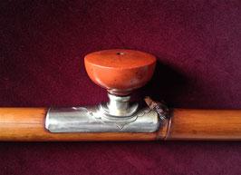 Pipe à opium en bambou, baitong et corne noire