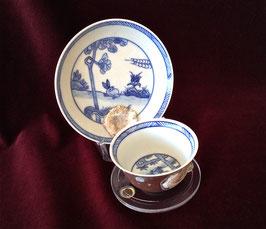Tasse et sous-tasse provenant de l'épave de Ca Mau (c. 1725)