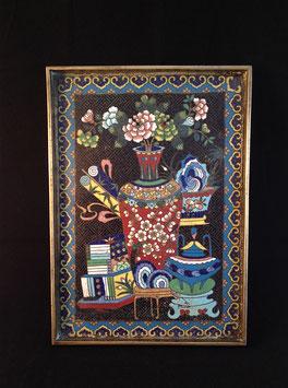 Plateau à opium en émaux cloisonnés #2