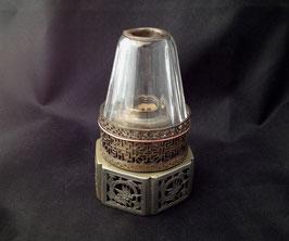 Lampe à opium en paktong ajouré