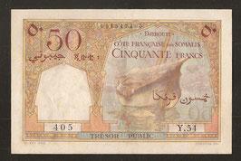 Djibouti/Somalis Trésor Public 50 francs (1952)