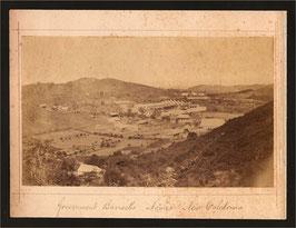 Allan Hughan (1834-1883), Nouméa (attr. à) :  Vue de la Caserne en construction (1874)