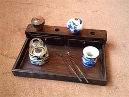 Combiné plateau à opium/porte-fourneaux