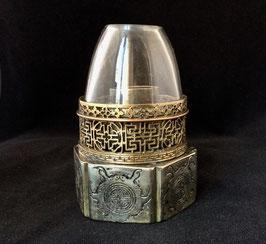 """Lampe à opium """" shou """" en paktong"""
