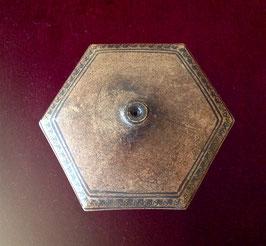 Grand fourneau de pipe à opium hexagonal, bicolore
