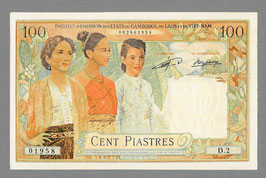 Billet faux des États Associés 100 piastres Laos (1954)