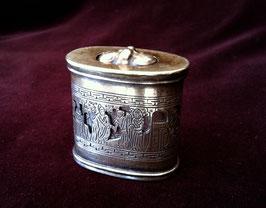 Petite boîte à opium en paktong ajouré