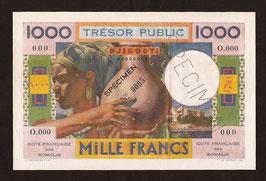 Djibouti/Somalis Trésor Public 1 000 francs Spécimen