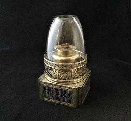 Lampe à opium en paktong et émail champlevé