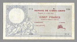 Nouvelle-Calédonie BIC 20 francs 1924
