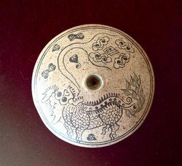 Fourneau de pipe à opium décoré d'un qilin
