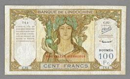 Nouvelles-Hébrides BIC 100 francs Minost/Laurent (1945) P 10a - KM 719a