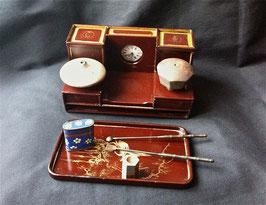 Porte-fourneaux de pipe à opium en laque