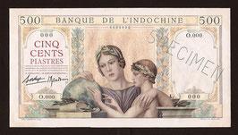 Indochine BIC billet de 500 piastres (1939) spécimen