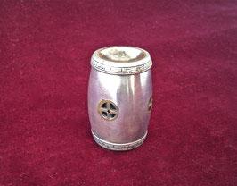 Boîte/dosette à opium en argent