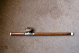 Pipe à opium en bambou, baitong et cuivre #12
