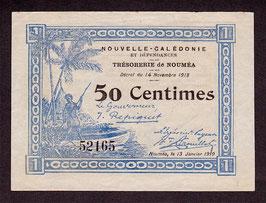 Nouvelle-Calédonie - Bon de caisse du Trésor - 50c  (4 lignes) 1918
