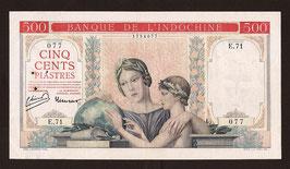 Indochine BIC billet de 500 piastres (1939) à-plats rouges