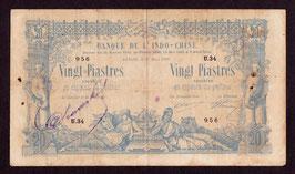 Billet d'Indochine 20 piastres 1907