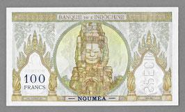 Nouvelle-Calédonie BIC 100 francs (1957) - P 42d  KM 415d. SPÉCIMEN