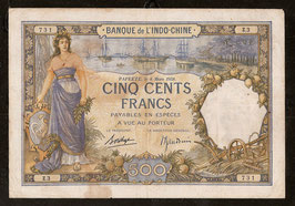 Billet Tahiti BIC 500 francs 1938