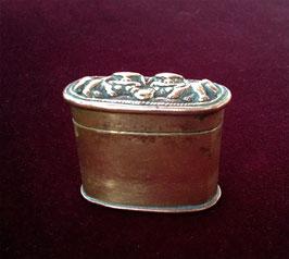 Petite boîte à opium en laiton et cuivre