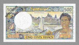 Nouvelle-Calédonie IÉOM 500 francs (1970) SPÉCIMEN