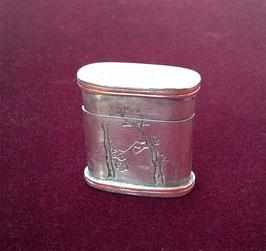 Petite boîte à opium en paktong et cuivre