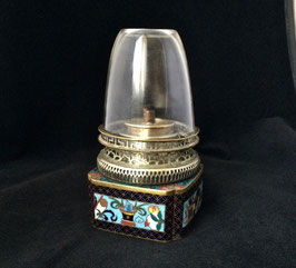 Lampe à opium en émaux cloisonnés