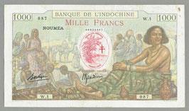 Nouvelles-Hébrides BIC 1000 francs - Borduge/Baudouin (1941) KM 705