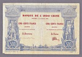 Nouvelle-Calédonie BIC 500 francs 1921