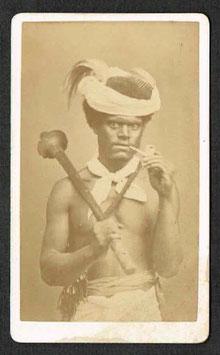 """CDV : Allan Hughan (1834-1883), Nouméa :  """"Canaque Calédonien / Police indigène"""" (c.1875)"""
