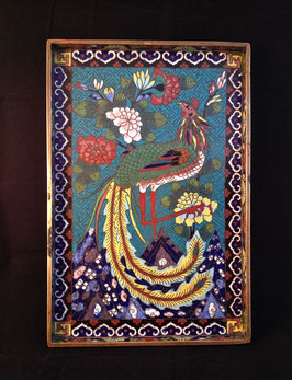 Plateau à opium en émaux cloisonnés #1