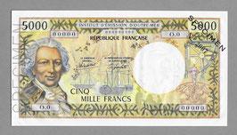 Nouvelle-Calédonie IÉOM 5000 francs (1982) SPÉCIMEN